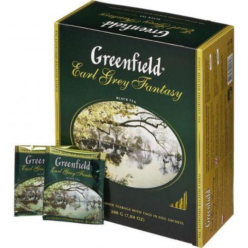 Чай Greenfield Earl Grey Fantasy черный с бергамотом 100пак